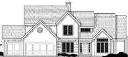 Traditional Style Home Design Plan: 21-1068