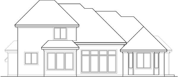 Rear Elevation Plan: 21-145