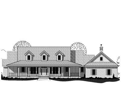 Country Style Floor Plans Plan: 21-203