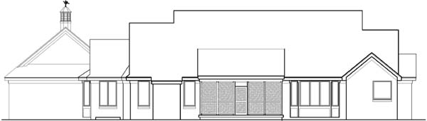 Rear Elevation Plan: 21-203