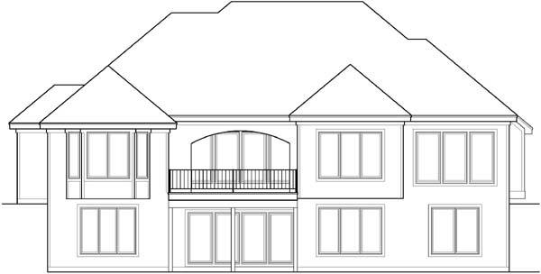 Rear Elevation Plan: 21-204