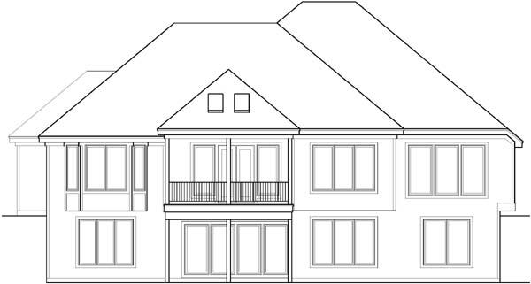 Rear Elevation Plan: 21-205