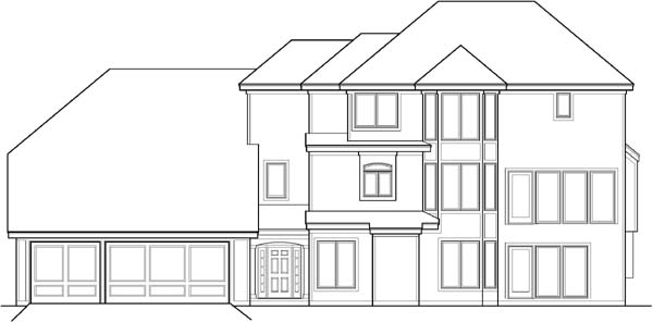 Rear Elevation Plan: 21-220