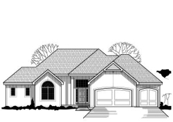 Traditional Style Home Design Plan: 21-227