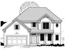 Traditional Style Home Design Plan: 21-266