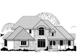 English-Country Style Floor Plans Plan: 21-299