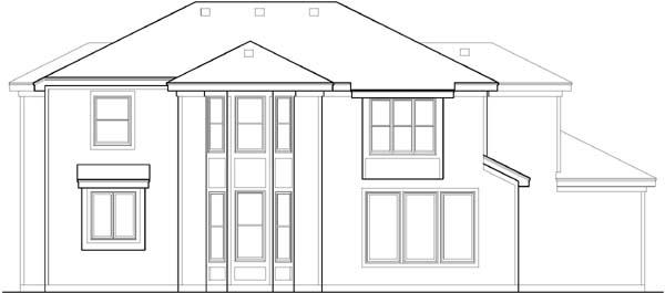 Rear Elevation Plan: 21-318