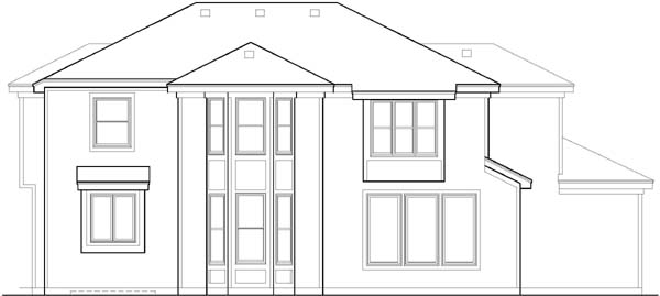 Rear Elevation Plan: 21-319