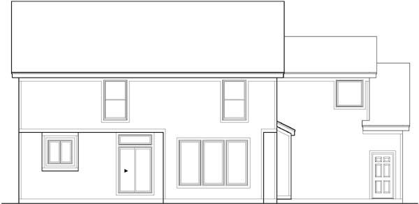 Rear Elevation Plan: 21-388