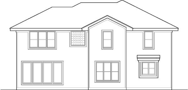 Rear Elevation Plan: 21-464