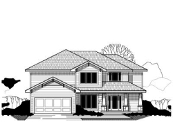 Craftsman Style Home Design Plan: 21-464