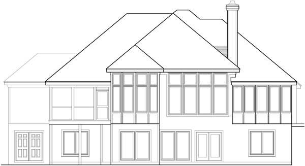 Rear Elevation Plan: 21-534