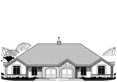 Country Style Floor Plans Plan: 21-535
