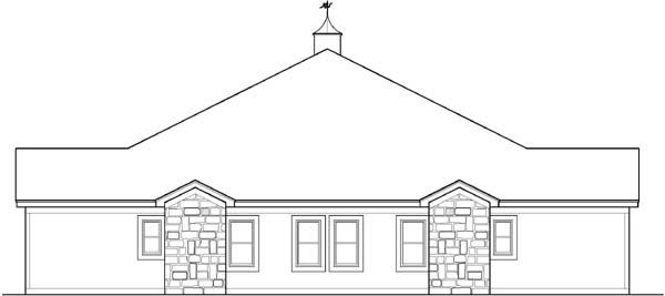 Rear Elevation Plan: 21-535