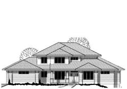 Prairie Style House Plans Plan: 21-548