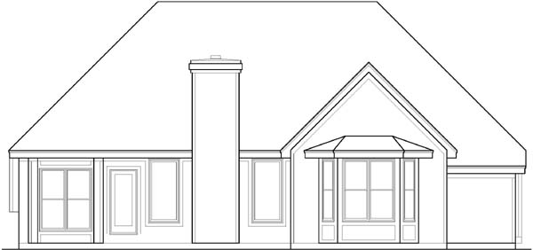 Rear Elevation Plan: 21-563