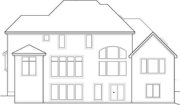 Rear Elevation Plan: 21-572