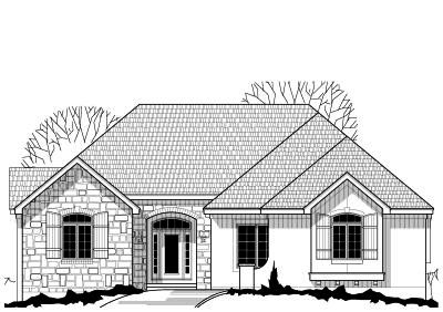 Traditional Style Home Design Plan: 21-573