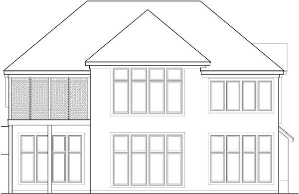 Rear Elevation Plan: 21-573