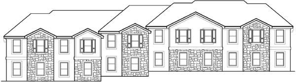Rear Elevation Plan: 21-574