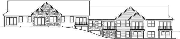 Rear Elevation Plan: 21-578