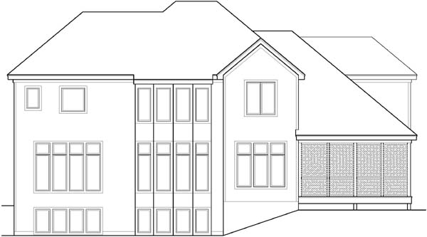Rear Elevation Plan: 21-600