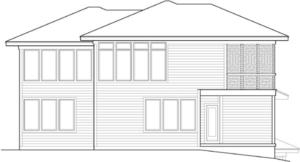 Rear Elevation Plan: 21-622