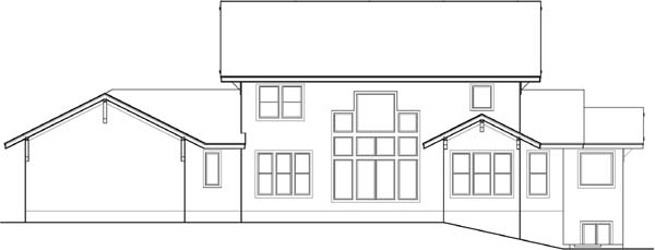Rear Elevation Plan: 21-623