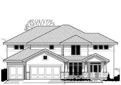 Craftsman Style Home Design Plan: 21-647