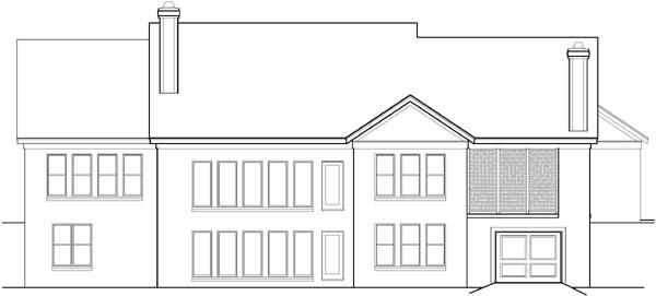 Rear Elevation Plan: 21-675