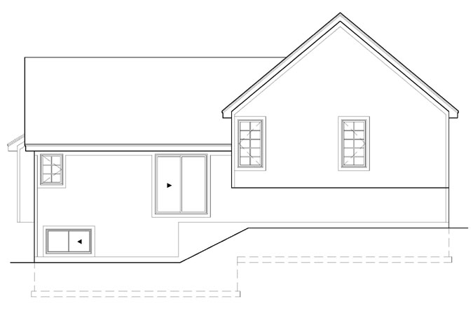 Rear Elevation Plan: 21-822