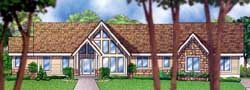 Contemporary Style House Plans Plan: 21-834