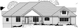 Craftsman Style Home Design Plan: 21-857