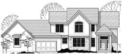 Craftsman Style Home Design Plan: 21-859