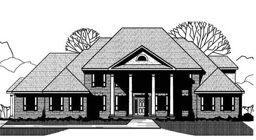 Colonial Style Floor Plans Plan: 21-921