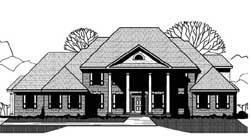 Colonial Style House Plans Plan: 21-921