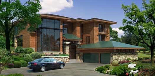 Modern Style Floor Plans Plan: 21-992