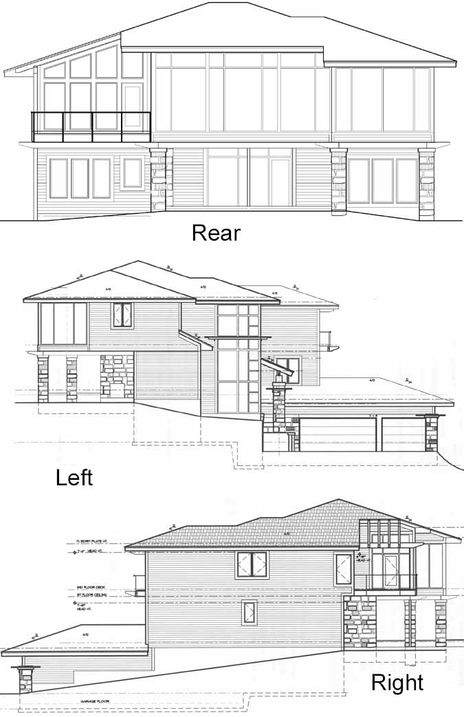 Rear Elevation Plan: 21-992