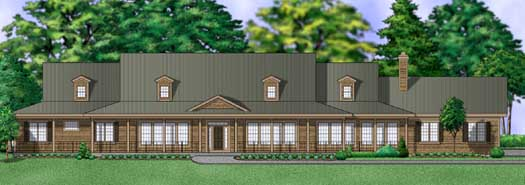 Country Style Home Design Plan: 21-994