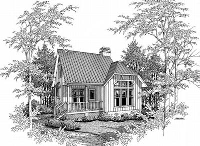 Country Style Home Design Plan: 22-103