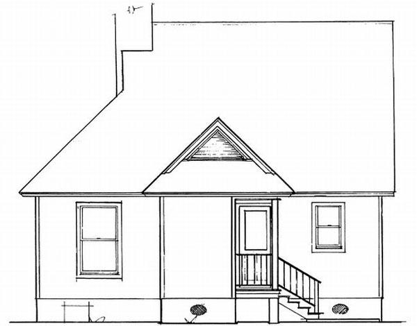 Rear Elevation Plan: 22-103