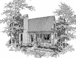 Country Style Home Design Plan: 22-105