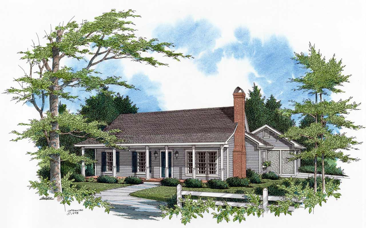 Country Style Floor Plans Plan: 22-108