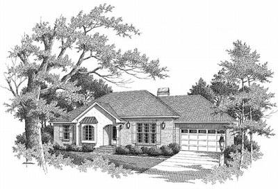 European Style Home Design Plan: 22-109