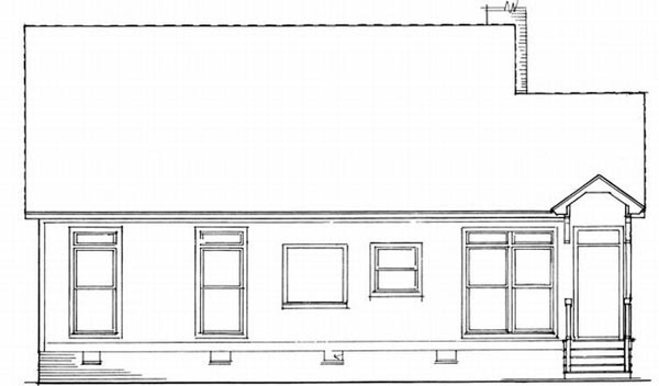 Rear Elevation Plan: 22-111