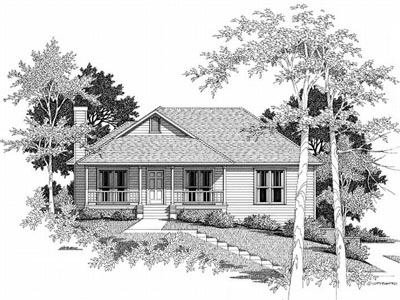 Country Style Home Design Plan: 22-117