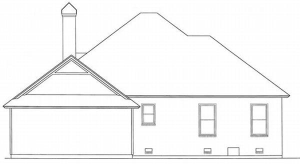 Rear Elevation Plan: 22-118