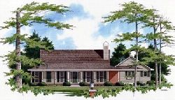 Country Style Home Design Plan: 22-121