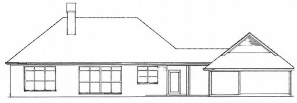 Rear Elevation Plan: 22-123