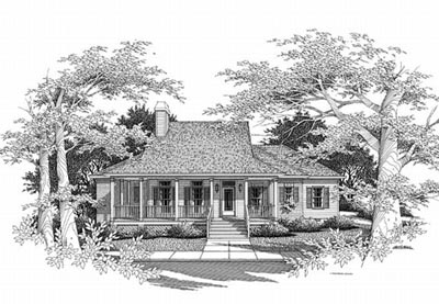 Country Style Home Design Plan: 22-124